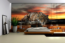 2 sizes available Photo wallpaper wall mural for bedroom office Jaguar Cat