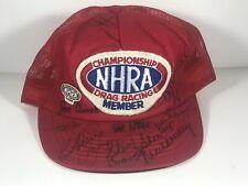 Championship Drag Racing Member 1990 NHRA Snapback Trucker Hat Cap.