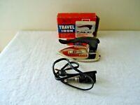 "Vintage Manasuru Deluxe Travel iron In Box "" GREAT COLLECTIBLE ITEM """