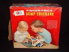 Rare Vintage Fisher Price Little People Dump Truckers 979 COMPLETE in Box