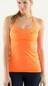 Lululemon Women's Scoop Me Up Tank Top Yoga. Color Orange. Pre-owned