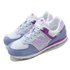 """New Balance 574 """"широкий синий фиолетовый детские дошкольные повседневный образ жизни обуви GC574SL2 W"""