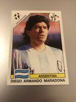 PANINI WORLD CUP STORY 1990 DIEGO ARMANDO MARADONA STICKER NO 224