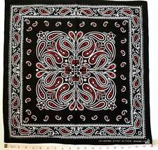 NEW RED/BLACK/WHITE PAISLEY PRINT BANDANA HEAD WRAP HIPHOP BIKERS SCARF