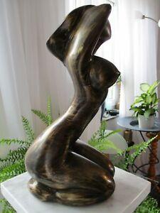 Bronze Figur, nackte DAME, Skulptur, ca.30 cm, schwer 2,850 kg Erotik ästhetisch