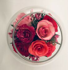 Last Forever Roses Bouquet Preserved In Fancy Glass Jar. Perfect Gift.