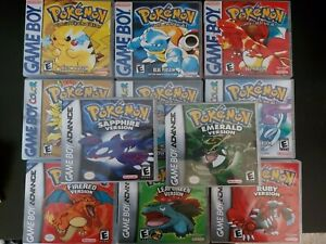 Replacement ArtWork Pokemon Yellow Blue Red Fire Leaf Green Crystal Gold Silver
