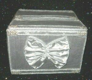 Small SILVER WEDDING CARD MONEY BOX Handmade with Love