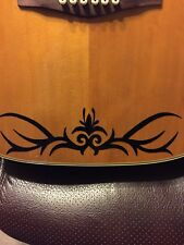 Floral Tribal Guitar Body Vinyl Decal. For Any Guitars, Ukuleles