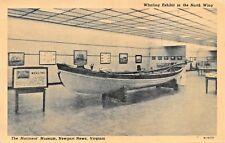 Newport News Virginia ~ Marinos Museo Ballenero Exhitbit Tarjeta Postal