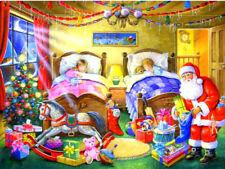 Christmas Children & Santa Diamond Painting Kit 30 x 40 cm like cross stitch