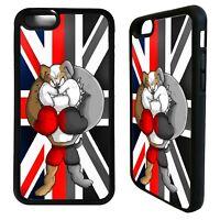 British bulldog Union jack flag case cover for iphone 5 6 7 8 plus X XS Max XR