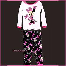 Disney Minnie Mouse Pyjamas Pajama Set Child Infant Winter Toddler Sleep 18 24 m