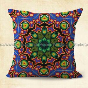 interior decorator indigenous Huichol Mexico art cushion cover