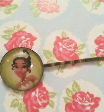 Disney Princess Tiana Hair Grip/Slide/Clip Handmade gifts xmas Green Style