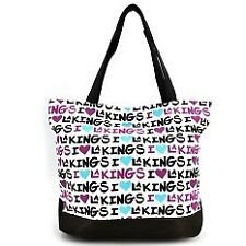 Fashionista I Love Los Angeles Kings Maxima Ladies Canvas Tote Bag