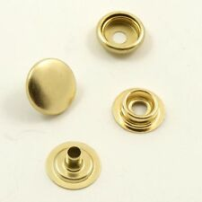 15mm 4-part gold press studs snaps pins durable leather crafts