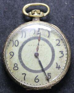 1916 Hampden Grade 305 12s 17j Pocket Watch - OF Case - Runs - Needs Service