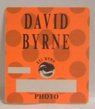 David Byrne / Talking Heads Concert Tour Cloth Backstage Pass