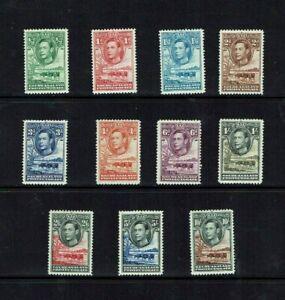 Bechuanaland: 1938, King George VI definitive set, mint lightly hinged.