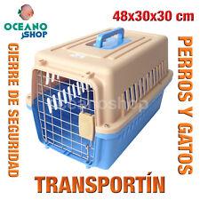 TRANSPORTÍN PERROS Y GATOS PLASTICO CALIDAD CIERRE Y ASA 48x30x30 cm D531 0150