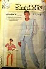 SIMPLICITY SEWING PATTERN NO. 7851 LADIES TRACK SUIT & SHORTS SIZE 12-16