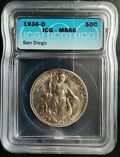 1936-D 50 CENTS SAN DIEGO ICG MS66