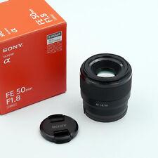 Sony SEL 50mm 1:1 .8 FE per Sony E-Mount-NERO-USATO