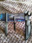 Mini Survival Knife Set Tomahawk 2 knife set new with case