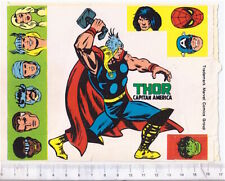 THOR - CAPITAN AMERICA  70s Marvel Corno italy stickers  - adesive