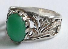 Ring Art Deco grüner Edelstein Silber 800  Vintage 30er silver ring