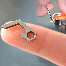 Durable Mini Stainless Steel Bottle Opener Keychain Keyring Outdoor Screwdriver