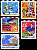 EBS East Germany DDR 1977 Firemen - Feuerwehr Michel 2276-2280 MNH**