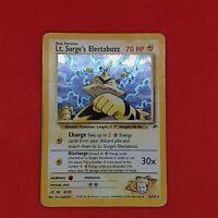 Lt. Surge's Electabuzz 6/132 Gym Heroes Holo Rare WOTC Pokemon Card