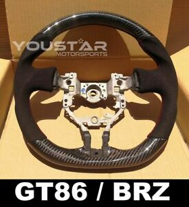 Alcantara Suede D-Type CARBON Steering Wheel for Toyota 86 Subaru BRZ Scion FR-S