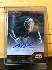 SDCC 2019 Topps Star Wars Power of the Dark Side General Grievous 1/1 Autograph