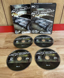 Need for Speed Most Wanted PC CD ROM Software Game EA  | 4 Disc Manual Included