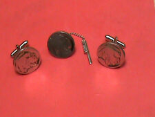 Indian Head Nickel  Made into cuff links and Tie Tac
