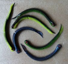 6 leurres souples peche Worm V-Tail ultra souple 13cm 3 couleurs X2
