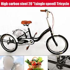 "20""x 3 Roues Tricycle adulte avec panier Shopping- Accessoire Vélo UNISEXE  NEUF"