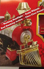 Christmas Tree SANTA's JUMBO EXPRESS Smoking Train Set Choo-Choo Sounds & Lights