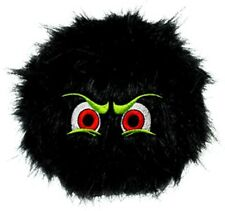 New Dog Puppy Toy Silly Squeakers iBalls Medium Black Furry Squeaks! VIP Pets