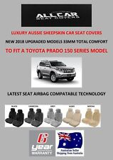 Sheepskin Car Seat Covers to fit a Toyota Prado 150 Series all models , 33mm TC.