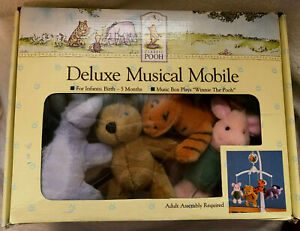 Classic Winnie The Pooh Disney Deluxe Musical Mobile 2002 Tested Works EUC