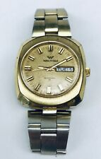 Vintage Mens Swiss WALTHAM Automatic 909 17 Jewel Incabloc Gold Wrist Watch
