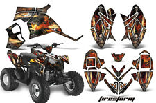 ATV Decal Graphic Kit Quad Wrap For Polaris Outlaw 90 110 All Years FIRESTORM K