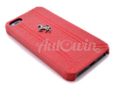 Ferrari Red Leather Cover for iPhone 5 / iPhone 5S / iPhone SE / NEW