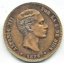 Alfonso XII 25 Pesetas 1876 D.E.M. @ Sin Circular @