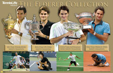 Roger Federer GRAND SLAM COLLECTION Historic Tennis Commemorative POSTER
