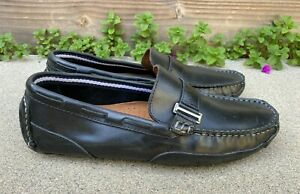 CLARKS Men's Black Leather Circuit Alonso Driving Moccasins Loafers Shoes | 8